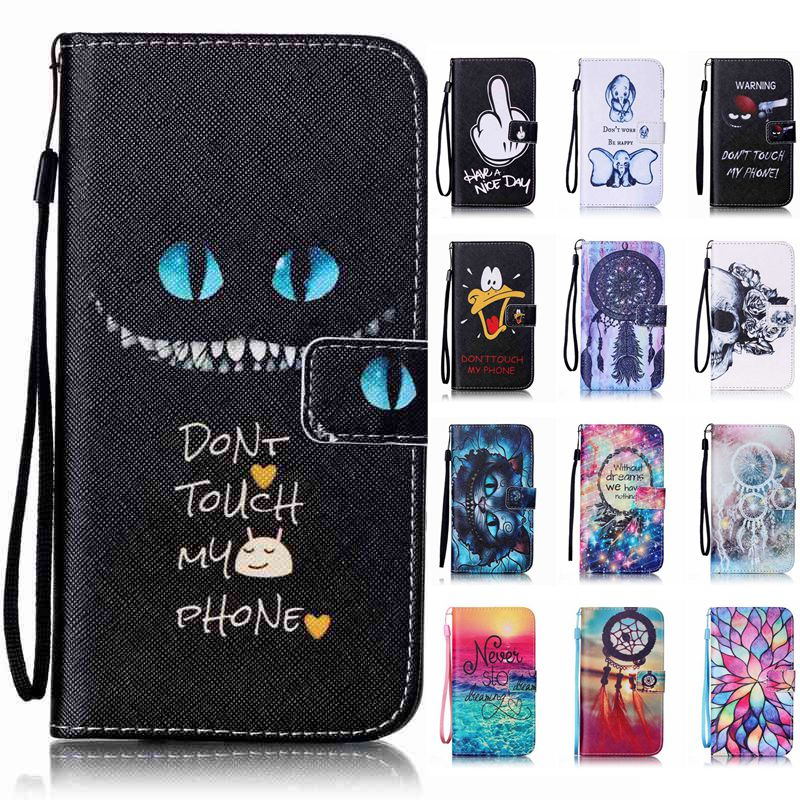 New Flower Leaves Women Black Dress Case For iPhone 6s Plus Cute Hello Kitty Back Cover for iPhone 7,With Ring Stand Holder