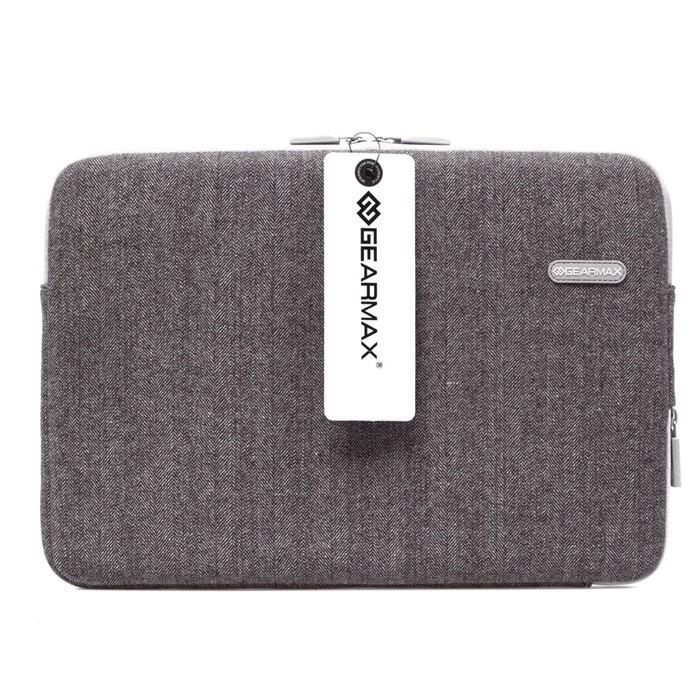 Free Shipping For Macbook Air 13'' Grey Tweed Fashionable Shockproof Neoprene Laptop Waterproof Bag Men Computer Notebook Sleeve(China (Mainland))