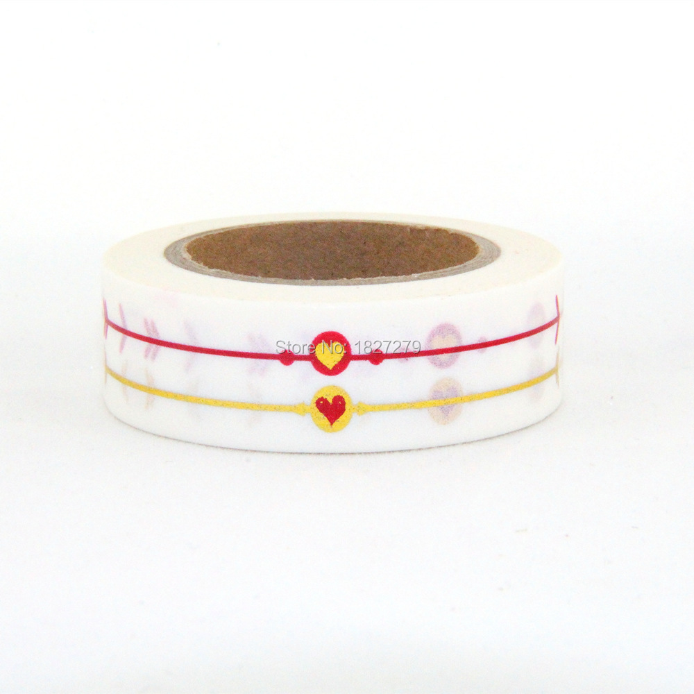 NEW 1X 10m Gold Foil Gilded Tape for Christmas Print DIY Deco Masking Japanese Washi Tape Paper