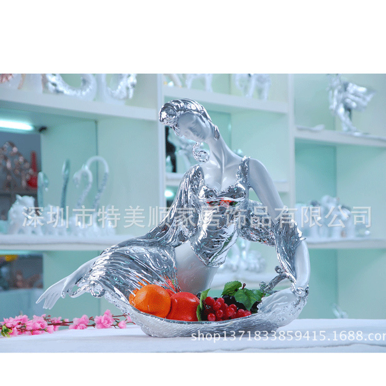 Plating resin big beautiful fruit tray upscale hotel soft outfit furnishing furniture Decoration(China (Mainland))