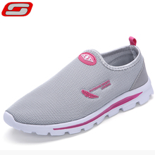 2016 New Arrival Summer breathable walking shoes for women wearable flat trainer Lightweight footwear lady Life Fresh style shoe(China (Mainland))