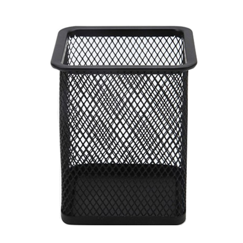 Classic Mesh Pen Holder Metal Office Accessories Desk Square School Supplies Student Storage Pencil Holders WZ5920(China (Mainland))