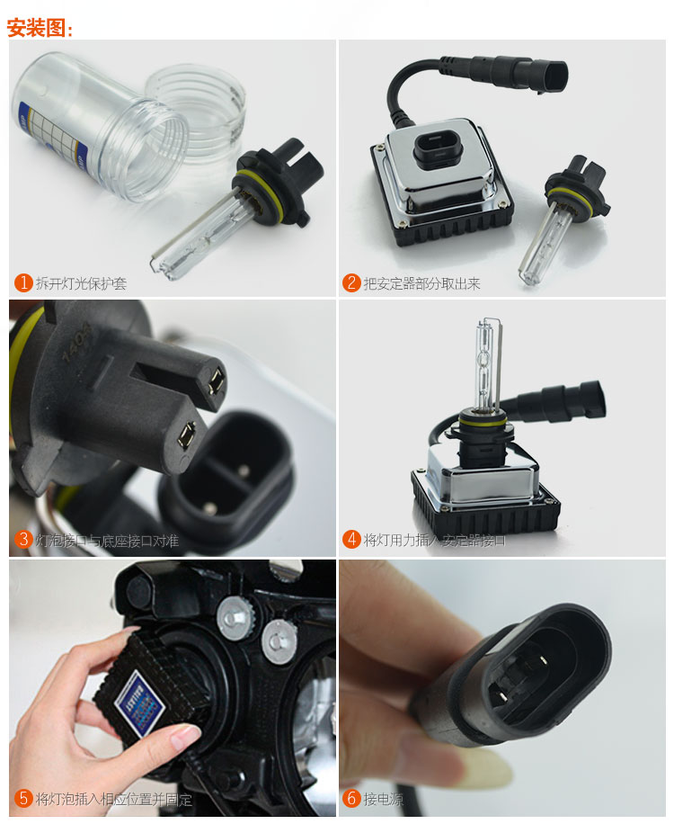 free shipping! Mini All in one HID xenon conversion kit H1/H3/H7/H8/ 9005(HB3)9006(HB4)12V35W xenon lamp ballast 6000K(China (Mainland))