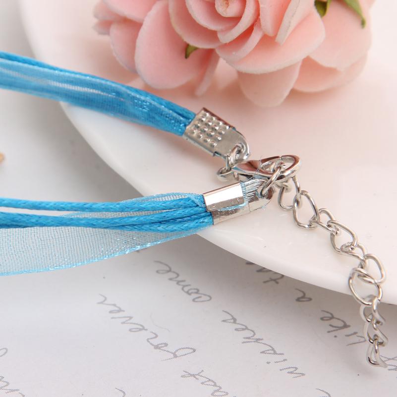 Hot Sale Jewelry Set Blue Rope Chian Round Pendants Necklaces Drop Earrings For Women Set Wedding