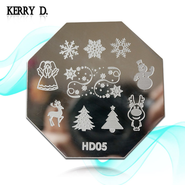 NEW ARRIVED -halloween and chrismas stamping nail art image plate D and HDseries 34 designs FOR CHOOSING template nail stamp