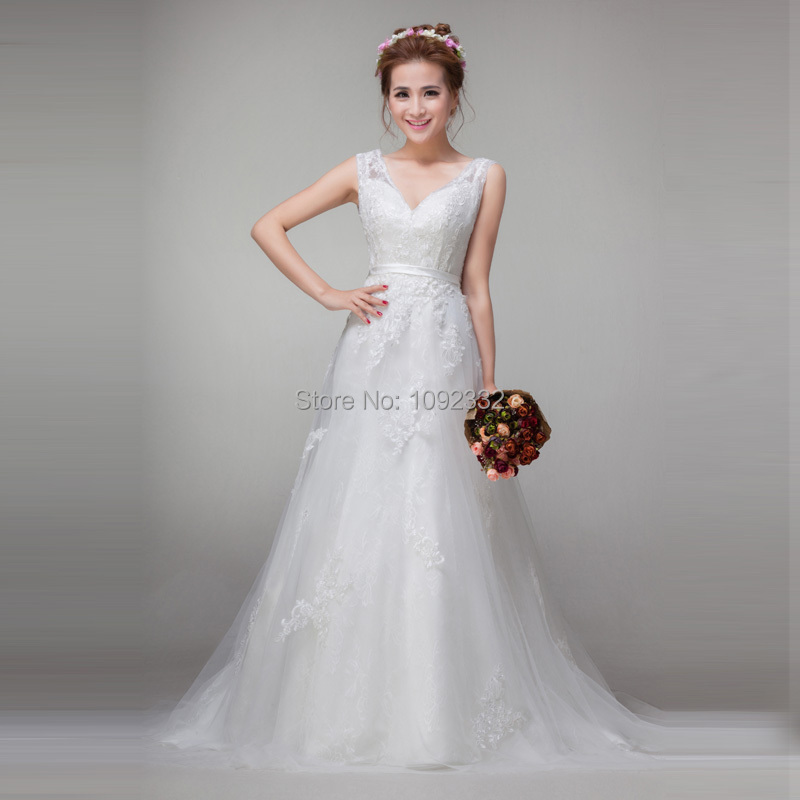 z w 2015 New stock bridal gown plus size women pregnant wedding dress Sexy Princess Deep V-neck Autumn winter Diamond tailing(China (Mainland))