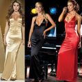 Bodycon Sexy Maxi Spaghetti Strap Backless Long Silk Satin Slip Dress Erotic Dresses Women Sexy Dresses