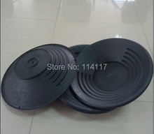 "wholesales 100pcs/lot  14"" Black Plastic Gold Pan Nugget Mining Dredging Prospecting River Panning(China (Mainland))"
