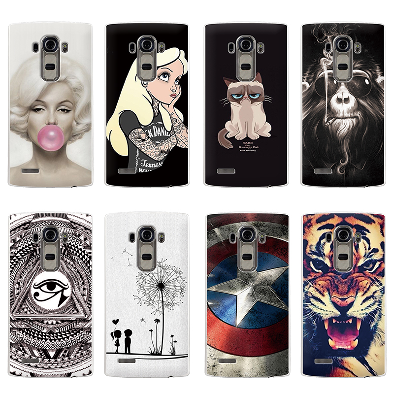Hot Selling!! 10 Styles Colored Painting Hard Plastic Case For LG G4 Cell phone Case Cover For LG G4 Mobile Phone Bags & Cases(China (Mainland))