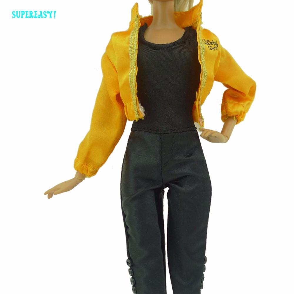 Handmade Sport Outfit Jumpsuit Jacket Coat Informal Garments For Barbie Doll Dollhouse Equipment Christmas Reward Child Toys