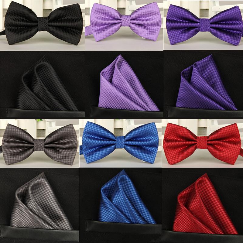 Мужской галстук Bow tie set 16 /lote bow tie handkerchief bow tie hair ties set