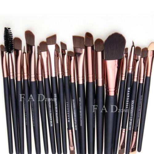Professional 20 Pcs Makeup Brush Set Tools Make Up Toiletry Kit Wool Brand Make Up Brush Set ...