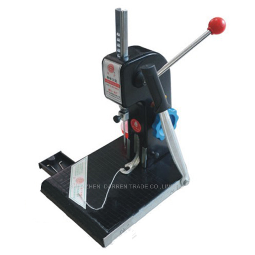 Buy 2PC manual book binding machine with knife ,financial credentials, document,archives binding machine,manual drill cheap