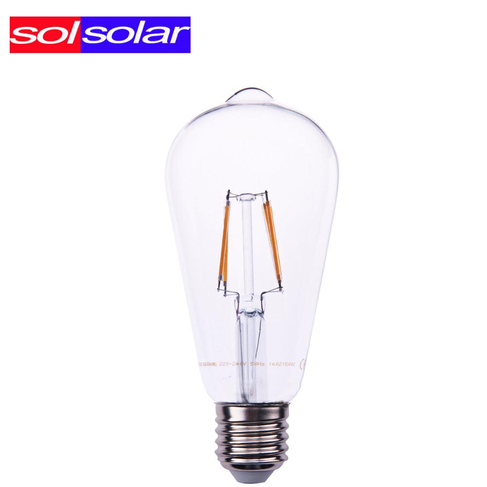 470lm E27 4W Vintage LED Edison Filament bulb Replace 60W Incandescent Bulb 220V decorative light bulb filament bulb lighting(China (Mainland))