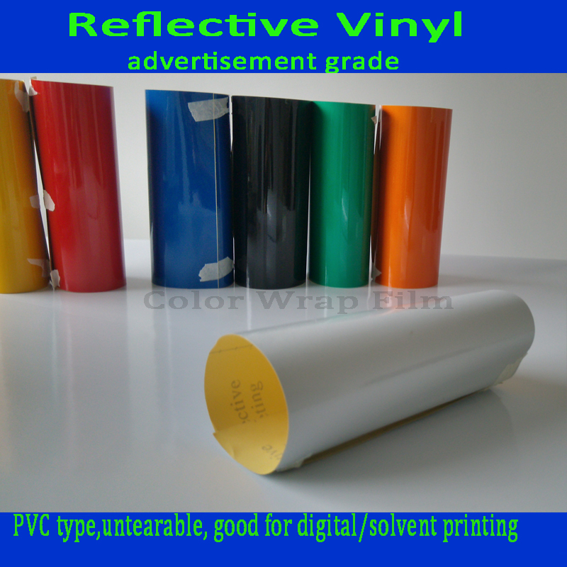 PVC Reflective material for Warning sign Traffic Sign for sticking 1.24m x 45.7m(China (Mainland))