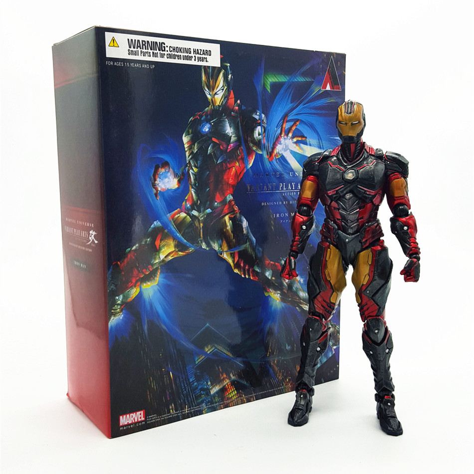 Marvel Avengers Assemble Iron Man kai Action Figure Super Heroes PVC 25CM Collection Model Toys Dolls Kids Toys T023(China (Mainland))