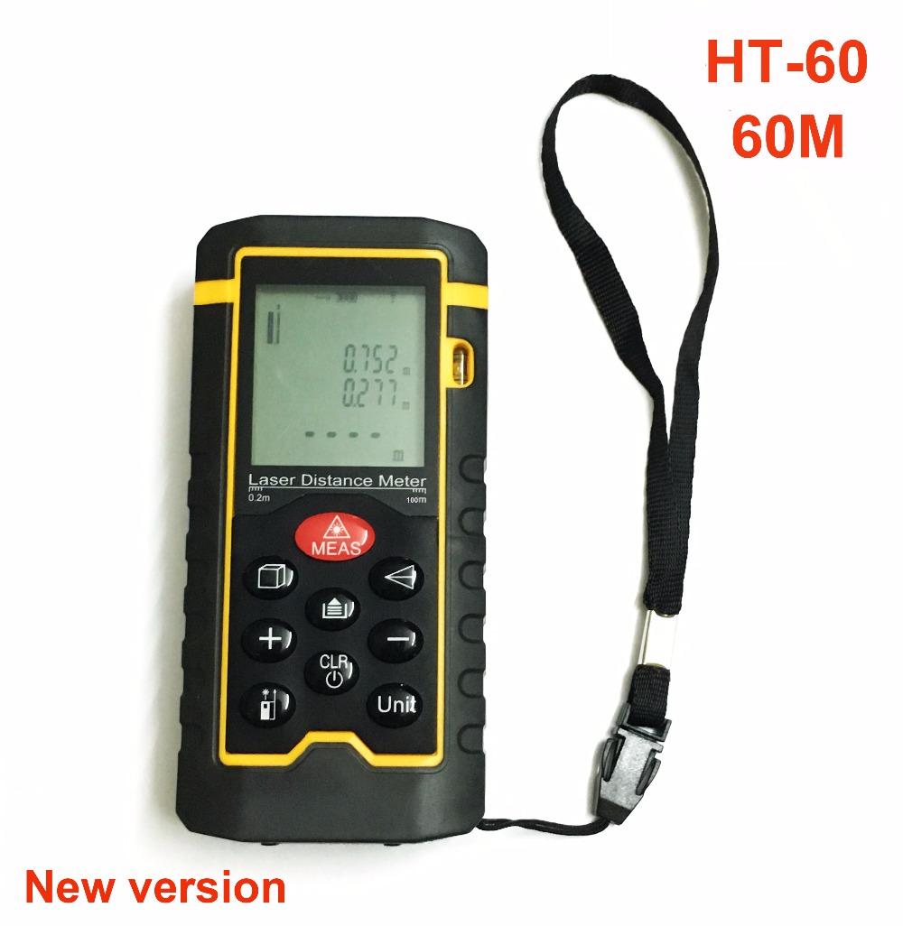 HT-60 Laser Rangefinder 60m Laser Distance Meter laser distance tester Measure Area/Volume testing(China (Mainland))