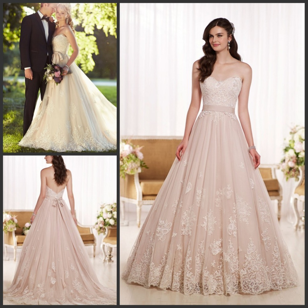 2015 new arrival princess bride wedding gowns sweetheart a for A line sweetheart tulle wedding dress