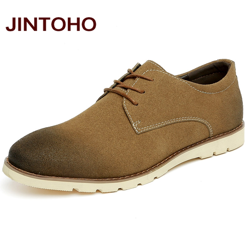 JINTOHO high quality fashion casual spring and autumn nubuck leather men shoes men's classic leather moccasin chaussures homme(China (Mainland))