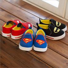 J G Chen Children Superman Spiderman Batman Shoes 2015 New Girls Boys Kids Christmas Halloween Shoes