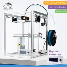 2016 Livre shiping Flyingbear DIY kit Impressora 3d Full metal Estrutura Makerbot Grande tamanho de impressão de Precisão de Alta Qualidade Presente(China (Mainland))