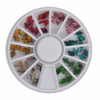 YZWLE 1 Wheel Nail Art Rhinestone & Decoration For DIY Nails Art Accessory Fashion Decorations Beauty Tools #JS01