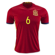 Top Thai Quality Spain 2016 Camiseta de futbol adult Football shirts maillot de foot(China (Mainland))
