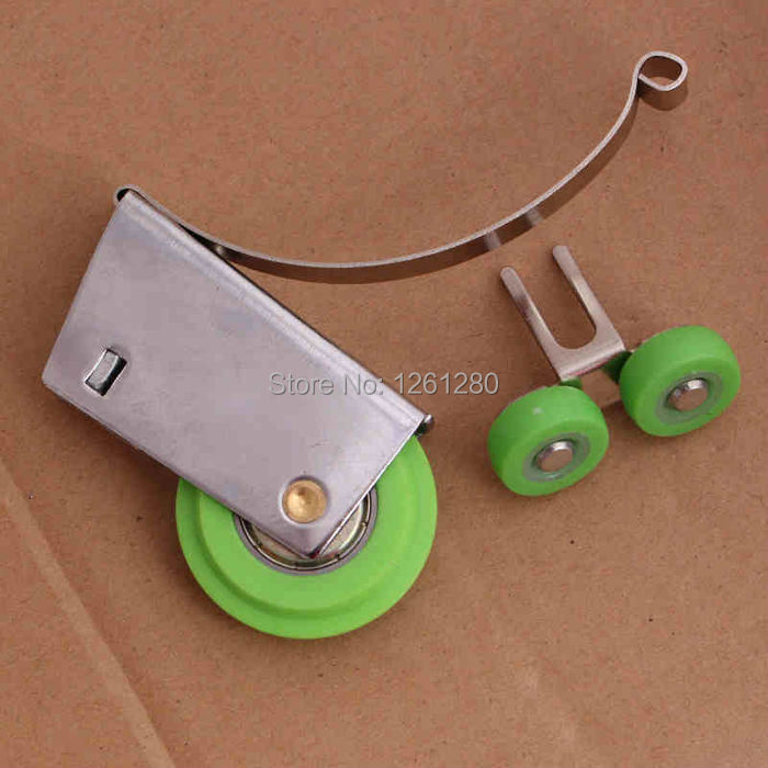 free shipping furniture caster Stainless steel sliding door wardrobe pulley bathroom hanging wheel partition roller caster<br><br>Aliexpress
