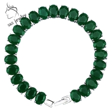 Classic Design Noble Malaysia Jade Bracelets Top Quality Luxury Platinum Plated Bracelets & Bangles Fine Jewelry for Women GS003(China (Mainland))