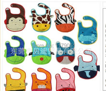 Free Shipping hot fashion  11pcs/lot  Multi-fonction the zoo baby Waterproof bib The saliva towel best gift(China (Mainland))