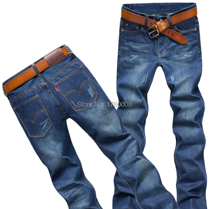 2015 Spring Autumn Mens Fashion Jeans Straight Long Pants Male Casual Slim Fit Classic Denim Trousers 9 Size - The freezing point of casual clothing store