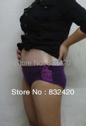 !!2~4 month comfortable realistic silicone artificial belly,fake belly false pregnancy drop shipping - lovepretty0806 store