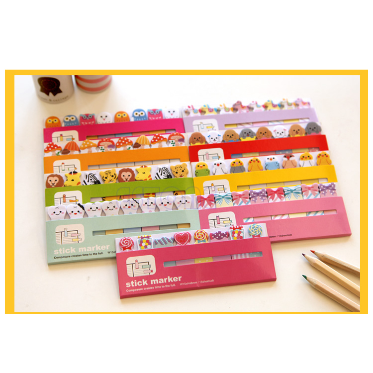 """U95""""Mini Candy Animals Cartoon 120 Pages Sticker Post It Bookmark Sticky Notes New(China (Mainland))"""