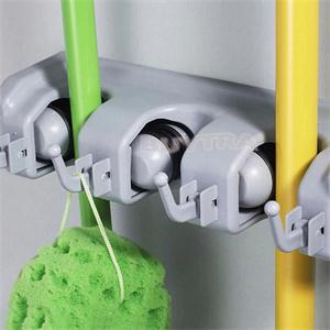 New Arrival 4 Position Wall Broom Holder Kitchen Bathroom Storage Holders for Broom(China (Mainland))