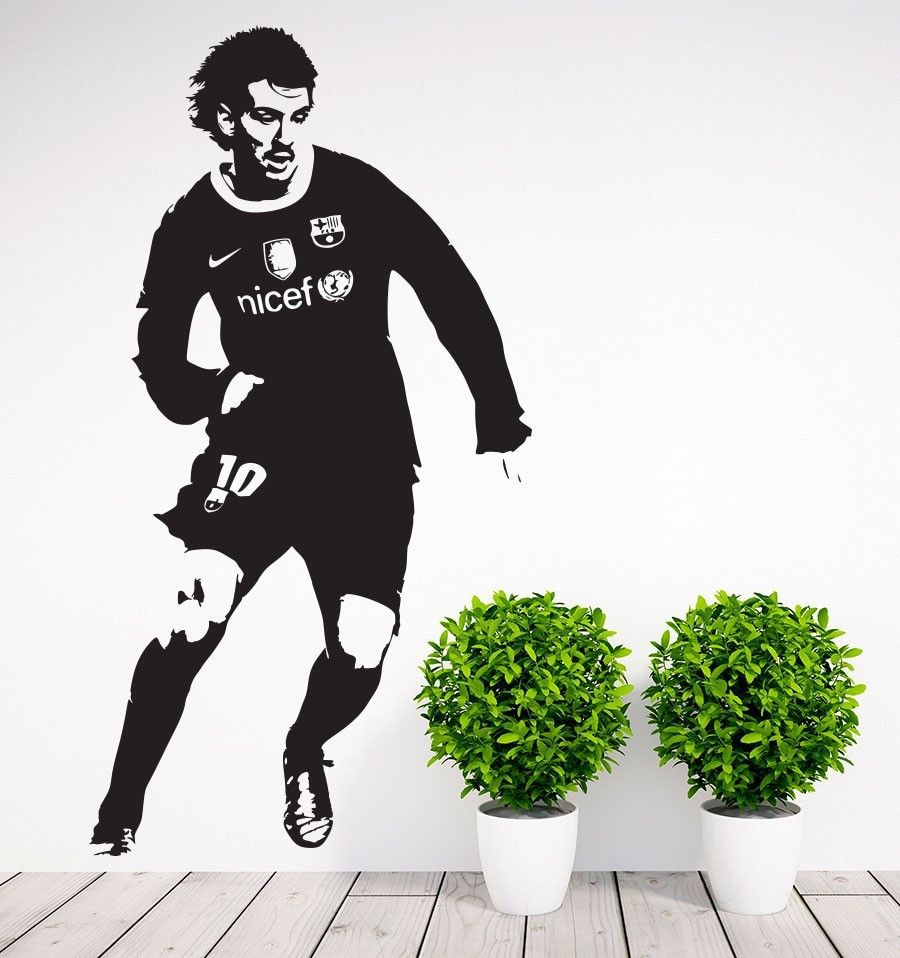 Barcelona Leo Messi Boys Wall Art Vinyl Decal Room Home Decor Sport Wall Stickers