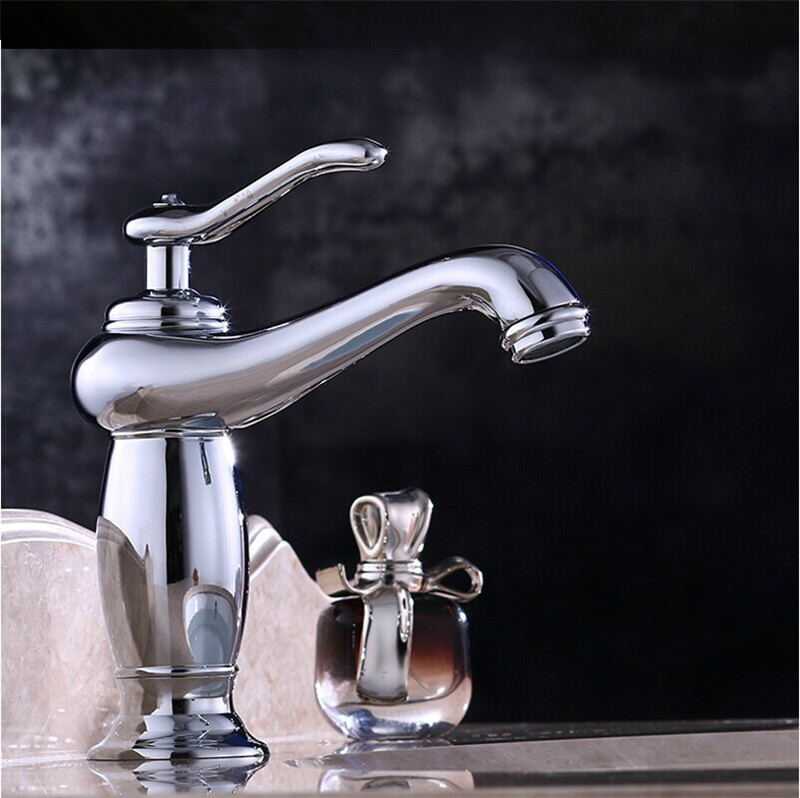 Buy Free Shipping Lamp Design Modern Bathroom Faucet Brass Chrome Faucets Gold