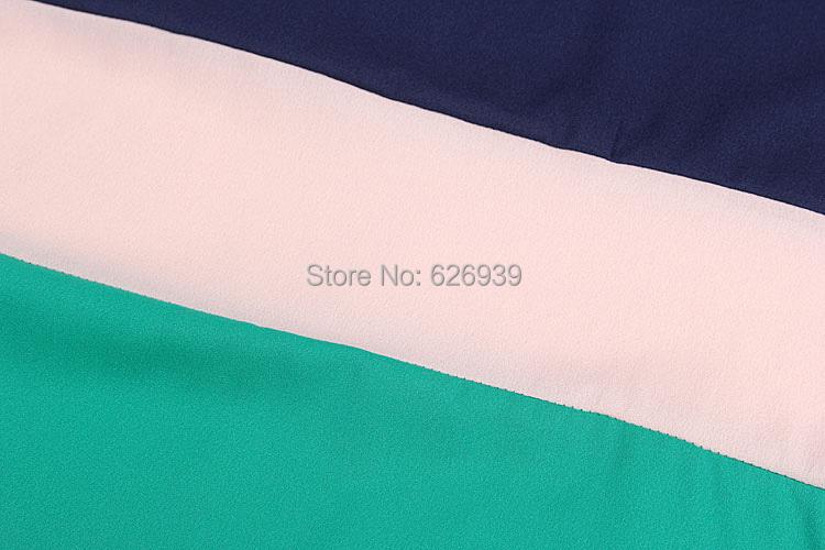 Women s Fashion Plus Size 2015 New Brand Three color Stitching Short Sleeve Women Camisetas Y
