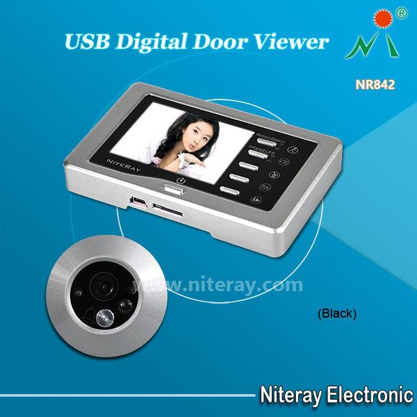 IR Infrared Video Peephole Camera Door Bell Digital Door Viewer With USB TF card