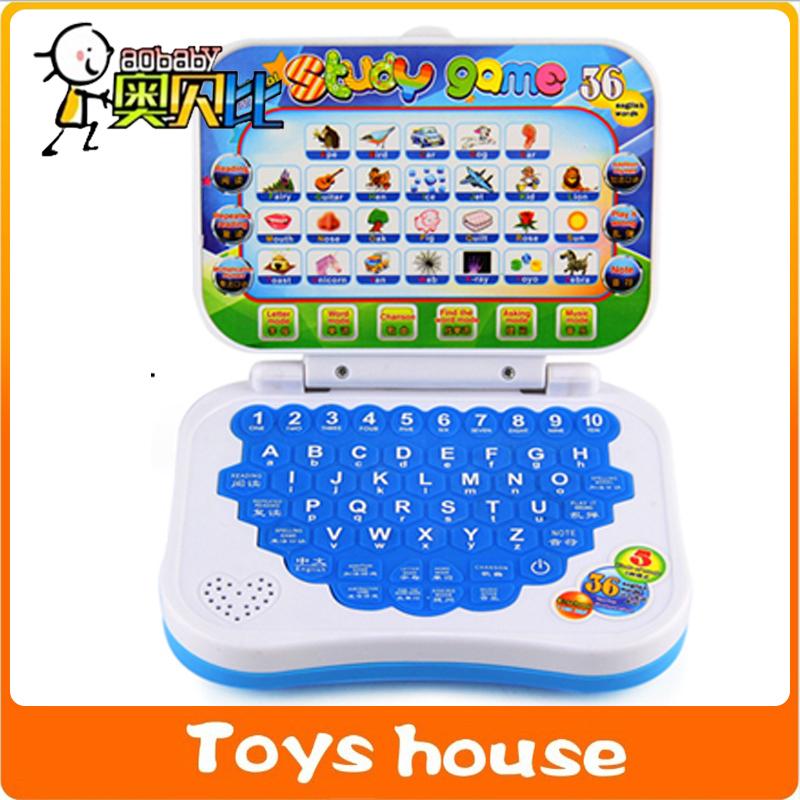 Educational laptop children computer kid laptop English Learning Machine Music Educational Toy Children Computer Laptop(China (Mainland))