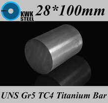 Buy 28*100mm Titanium Alloy Bar UNS Gr5 TC4 BT6 TAP6400 Titanium Ti Round Bars Industry DIY Material Free for $31.90 in AliExpress store