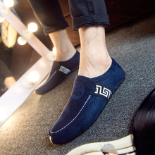 Men shoes leather suede casual Driving shoes moccasins Trendy Men's loafers Slip-on vintage british Style Zapatos Hombre F0185