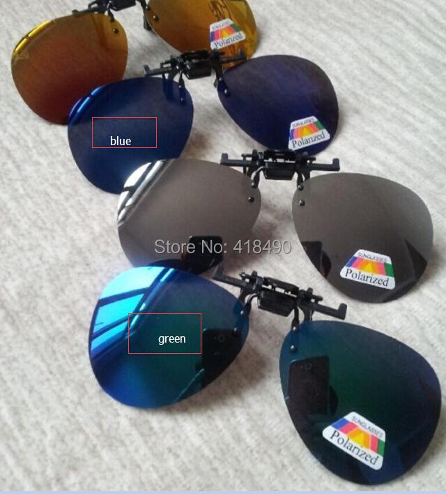 free shipping 400pcs Polarized Sunglasses Sports Coating Myopia Clip Sun Glasses Driving Glass Night Vision Clip