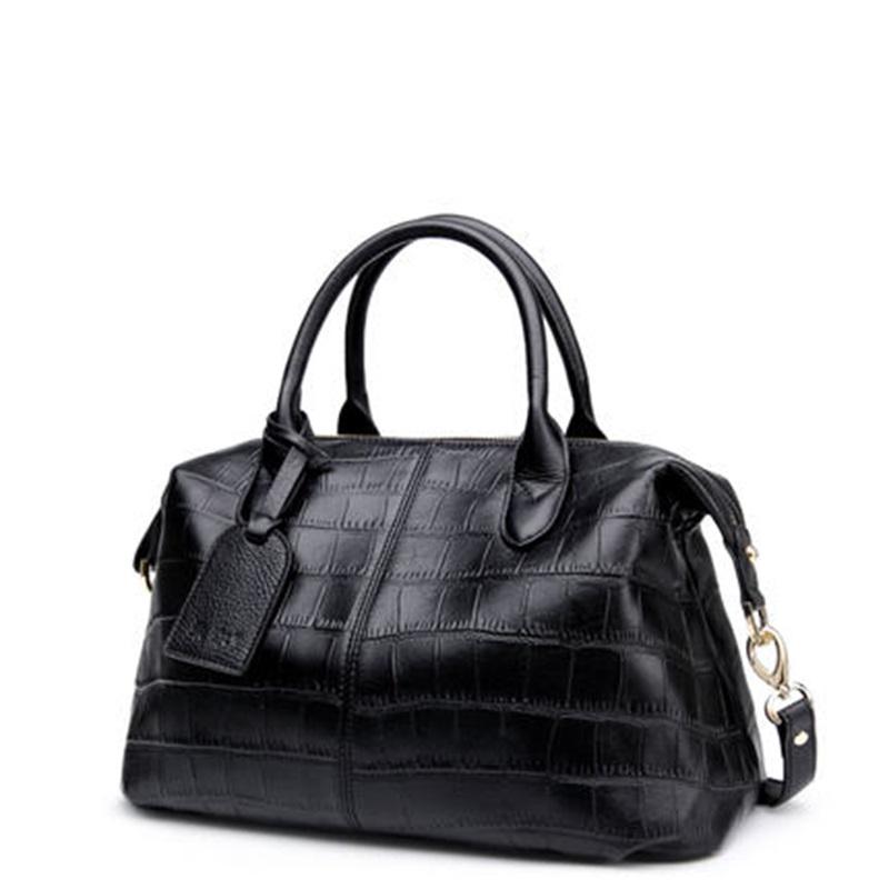 2016 new winter European and American fashion Crocodile Genuine Leather Ms portable Boston bag  CMX480<br><br>Aliexpress