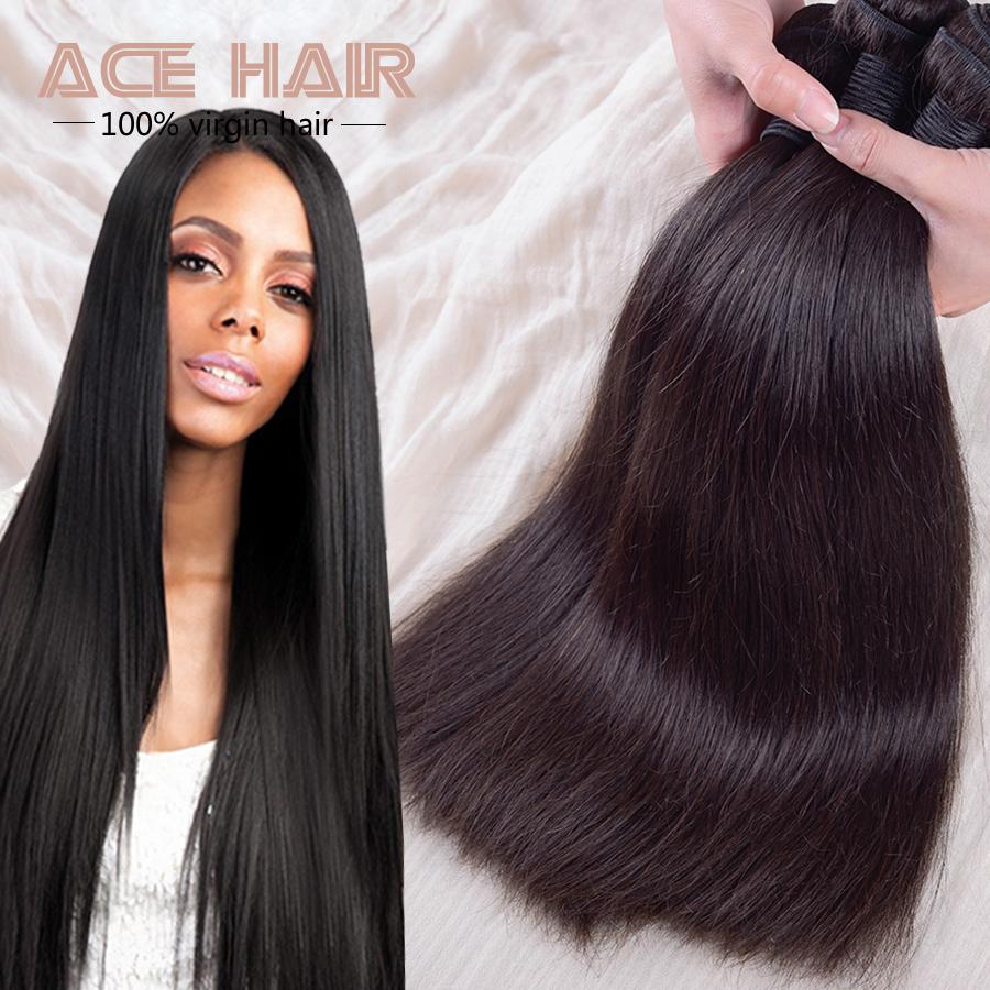 Malaysian Virgin Hair Straight Natural Black Hair 3pcs ...