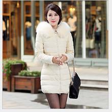 New 2015  Winter Jacket women warm Long Parkas Fur Collar Hooded Winter Coat Women Winter Jackets and Coats manteau femme H183