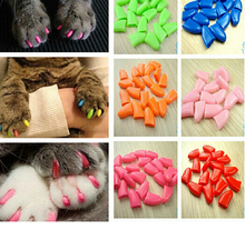 Colorful Pet Nail Sets, Cat Armor Products, dog nail sets, catlike sets, the cat claw set Send glue 20pcs/lot