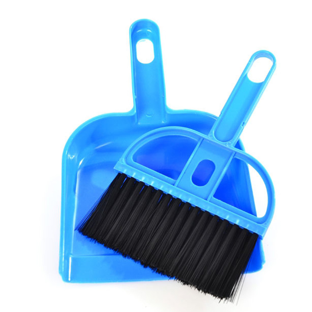 2016 New Product Mini Desktop Sweep Cleaning Brush Small Broom Dustpan Set Clean Table Free Shipping(China (Mainland))