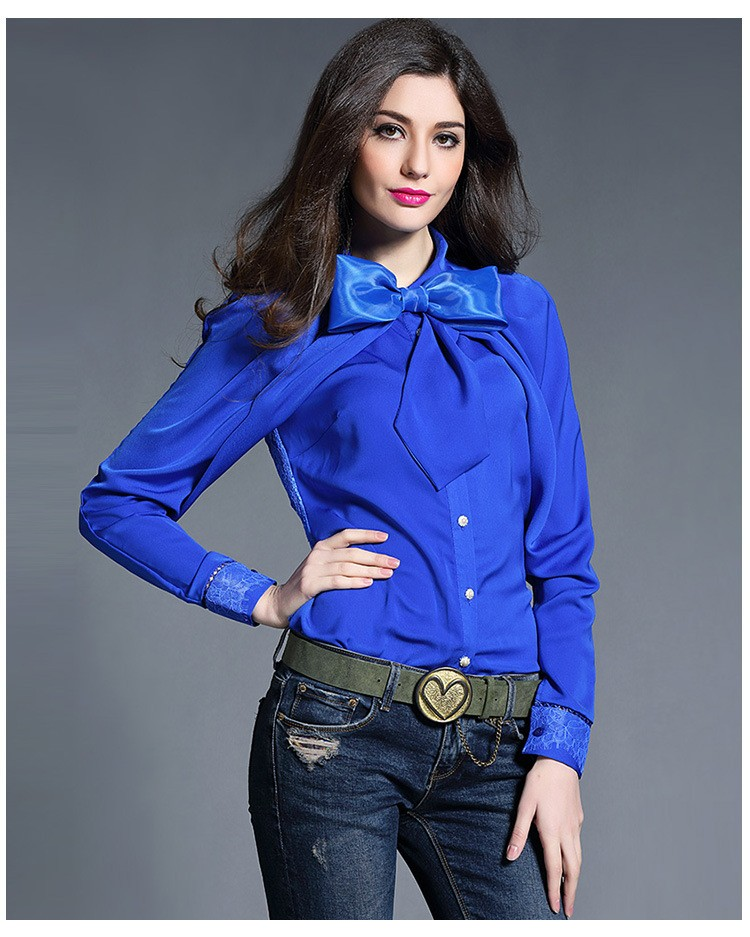 Женские Блузки Синие