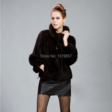 2015 Women Large Size Natural Mink Fur Coat Lady Warm Genuine Mink Fur Jacket Winter New Fashion Fur Outwear(China (Mainland))