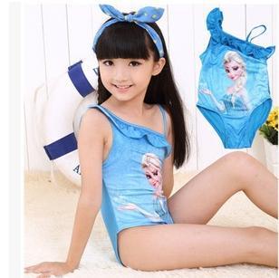 New Style Children Girls Kid Swimsuit Bikini Anna Elsa Swimsuits(China (Mainland))